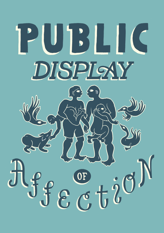A4 print af Emma Ekstam. Public display of affection.